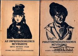 Az impresszionizmus művészete ; A posztimpresszionizmus művészete (2 mű)
