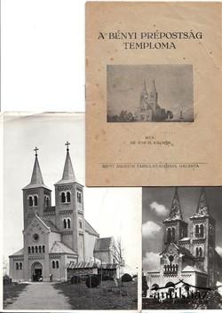A bényi prépostság temploma + 2 db Fotó (1956)