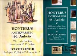 A Honterus antikvárium árverési katalógusa 45. 46. (2 db)