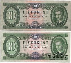 10 Forint 1957 és 1969. (2 db)