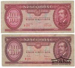 100 Forint 1949 és 1957. (2 db)