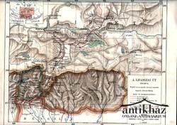 A Lhasszai út térképe