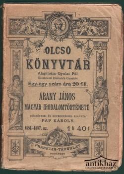 Arany János Magyar irodalomtörténete