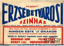 A két kapitány. (operett) Budapest Erzsébetvárosi Színház plakátja
