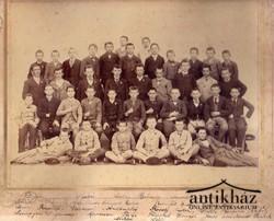 Iskolai tabló, Szeged 1895/6