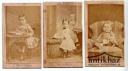 Kislány portré 3 db. (vizitkártya: 105x60)