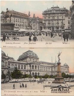Wien I. Radetzky- Monument 1906. ; Wien I. K.K.Universitet 1905.