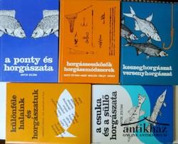 Horgász szakkönyvek 5 db