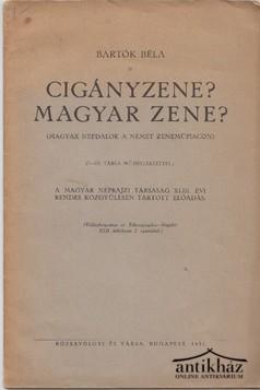 Cigányzene? Magyar zene? Különlenyomat